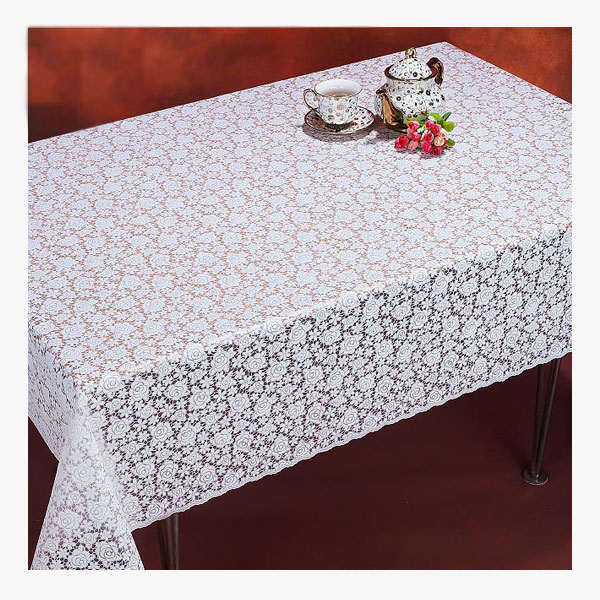 Pvc Table Cloth With Pearl